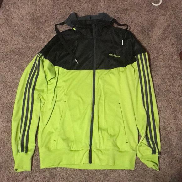 adidas Jackets & Coats | Rare Neon Zip Up Jacket | Poshmark